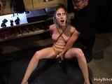 Petite woman loves hardcore bondage sex