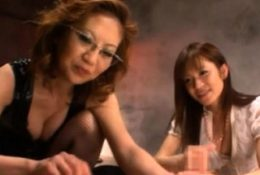 Porn action for an aroused asian stunner's mature fur pie