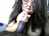 POV blowjob session with sexy ebony MILF