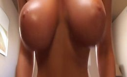 Super Awesome Natural Tits Teasing On Webcam