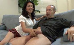 Andrea Enjoys A Big Cock