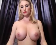 Big Tit Blonde Playing On Camera