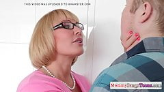 Bigbooty spex MILF facialized and doggystyled