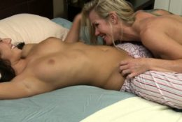 Busty milf licks stepdaughters asian bff