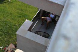 Caught my neighbors daughter masturbating on her balcony