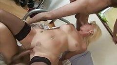 Francesca, MAture Blonde  Double Penetration