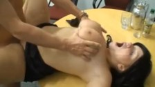 German babe used by her boss