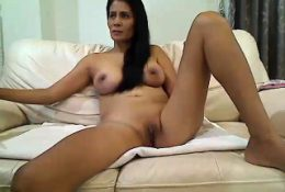 Home office masturbation with solo milf