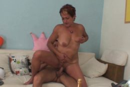 Horny mother in law seduces him into taboo cock riding