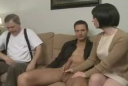 husband watches how he seduces his son