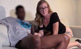 Interracial Newbie Gets Anal Creampie