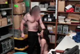 PETITE Alex More's vulva gets HAMMERED by horny officer