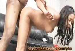 Sexy Black Ho Fucked Hard