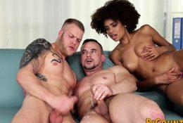 Bisex men riding