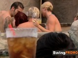 BISEXUAL COUPLE goes to SWINGER HOUSE for ORGY