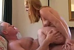 Cute Blonde Midget Blowjob And Fucked By Older Guy