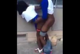 Ebony Teen Getting Fucked Outside