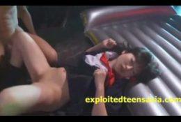 Jav Idol Schoolgirl Gets Anal On Stage In front Of Audience Then Sakura Am
