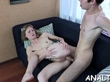 Magnificent russian redhead gal gets nailed by stud