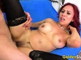 Older Claudia Fox Squirts After Riding