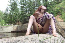 Redhead, Real Orgasm, Really Public River | freckledRED
