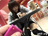 Remarkable girl Yuzuki Hatano is playing with a vibrator