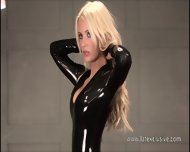 Sexy Softcore Model Alessandras Latex Fetish And Rubber Outfits In High Heels And Solo Blonde Babe In Kinky Latex