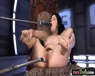 Trimmed Teen Fucked By Sex Machine