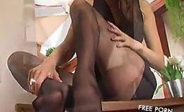 Veronika Brunette Foot Fetish