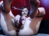 Double Penetration around sex toys and wild anal bang