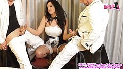 German Latina hotel Maid make anal double penetration 3some