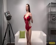 Hot Teen Barbora Shows Her Body During Casting