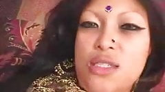 Indian Wife fucks a white and black dick .F70