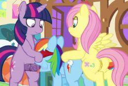 My Little Pony Twilight, Fluttershy, Rainbow Dash XXX Game