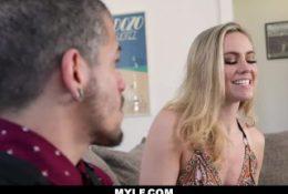 MYLF – Cheating MILF Sucks On Her Stepson's Cock