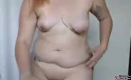 Tattoed Busty Redhead Showing Her Boobs On Cam