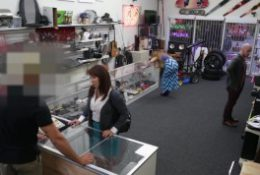 XXXPAWN – Pawn Shop Owner Takes Advantage Of Curvy & Desperate Latin MILF