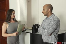 Busty real estate MILF Cathy Heaven anal with BBC