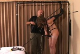Immoral slavery time with nipple and pussy play