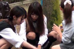 Japan hos pee in purse