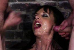 Kinky sex kitten gets cum load on her face sucking al68UvH