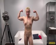 Muscular Girl At Casting