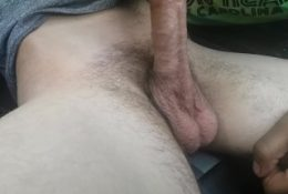 Swallowing Straight Guy In Empty Parking Lot