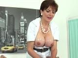 Cheating british mature lady sonia showcases her giant hoote