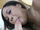 Drilling shy ebony amateur on porn audition