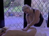 Granny masseuse toys and eats out lesbian