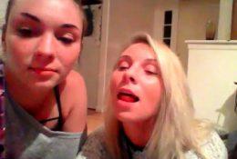 Lesbian teen takes care of blonde mature lesbian