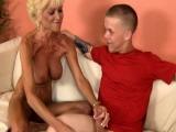 Masturbating mature wanking midgets dick