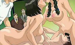 Schoolgirls Hentai Groupfucking Party