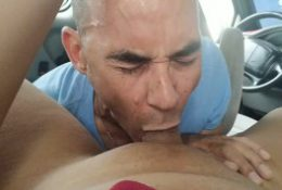 Sucking my ladyboy girlfriend dry